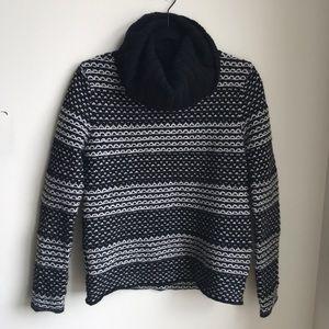 Brooks Brothers Wool Rabbit Fair Isle Cowl Sweater